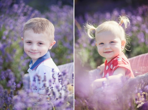 Child Portraits in the Lavender