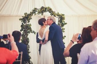First Kiss - Wedding Photography Edenbridge Kent